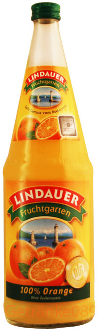 Lindauer Orange 100% Fruchtsaft 12 x 0,2 Liter (Glas)