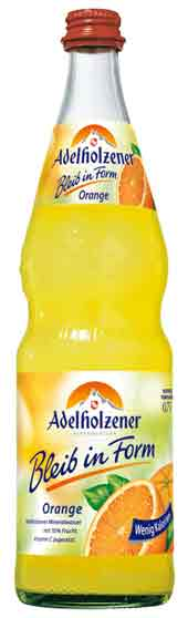 "Adelholzener ""Bleib in Form"" Orange 12 x 0,7 Liter (Glas)"