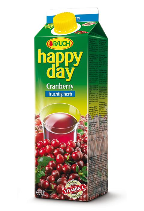 Happy Day Cranberry 6 x 1 Liter