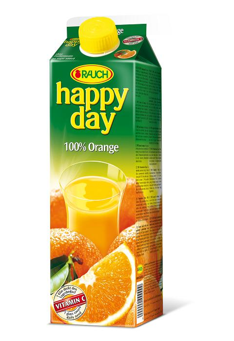 Happy Day 100% Orange 6 x 1 Liter